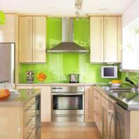 groene tegels in de keuken, Meubels Ideeën